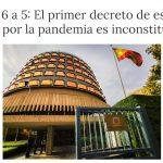 El primer estado de alarma en España fue Insconstitucional